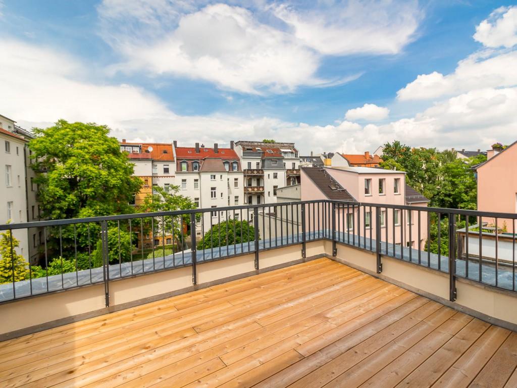 Dachterrasse Stadthaus Leipzig Gohlis