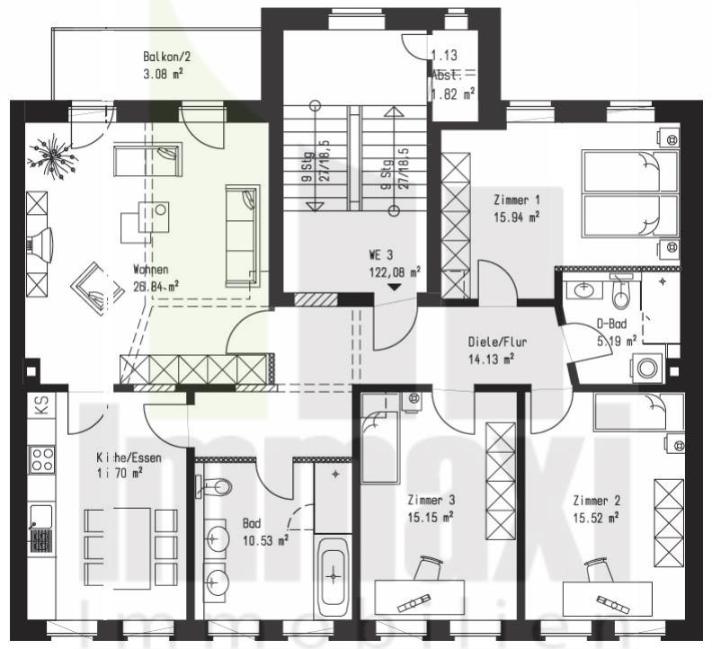 Grundriss luxuswohnung  Erstbezug Leipzig | Roßbachstraße 5 hochwertigste Sanierung ...