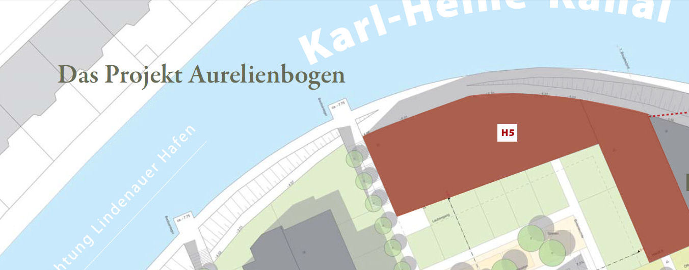 Lageplan Aurelienbogen Erstbezug